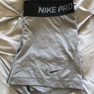 Gray Nike Pros